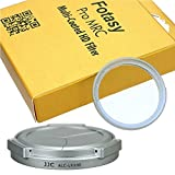 Fotasy LX100 UVS Auto Lens Cap and MRC HD Filter for Panasonic LUMIX DMC-LX100 Leica D-LUX Typ 109 (Silver)