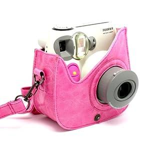 Amazon.com : CAIUL PU Leather Fujifilm Instax Mini 7s Case---Pink