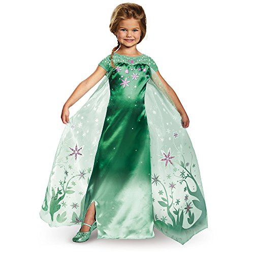Disguise Elsa Frozen Fever Deluxe Costume, One Color, Medium (7-8)