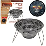 """Portable Grill - Non-stick Collapsible Stainless Steel 12"""" Outdoor Grill with Carrying Bag"""