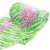 有松鳴海絞しぼり浴衣反物「グリーンにピンクの流れる様な花」一級和裁技能士の国内手縫いお仕立て付絞りゆかた緑
