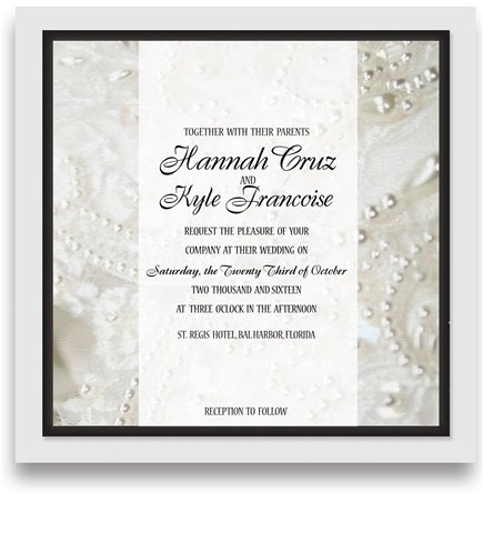 235 Square Wedding Invitations - Wedding Dress