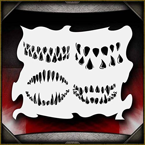 Monster Mouths AirSick Airbrush Stencil Template (Monster Mouth)