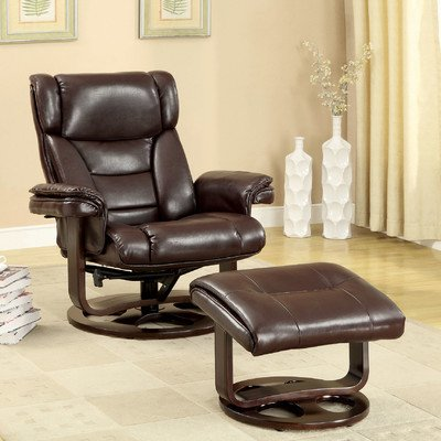 Fawn Swivel Recliner Chair And Ottoman front-871844