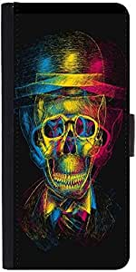 Snoogg Skull Blurrydesigner Protective Flip Case Cover For Sony Xperia Z5 Com...