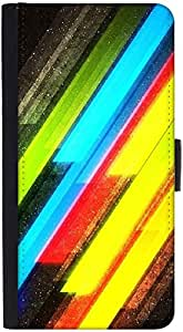 Snoogg Colourful Lightningdesigner Protective Flip Case Cover For Htc M9