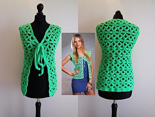 crochet green jacket bolero cardigan pattern: crochet green jacket bolero cardigan PDF