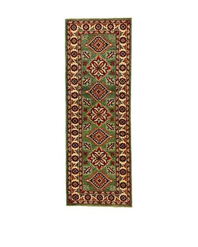 L'Eden del Tappeto Alfombra Uzebekistan Super Verde / Beige 61 x 179 cm