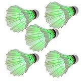 Cozyswan® 5 x Übernachtung LED Badminton Federball Birdies Beleuchtung dunkelgrün