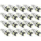 Amazon.co.jpSUCOOL  LED 5連LED 20個セット T10 ウエッジタイプ ウエッジ球 LEDバルブ  12V車用ホワイト 長寿命 5SMD