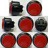 Japan Sanwa 8 Pcs OBSF-30 Black & Red OEM Arcade Push Button