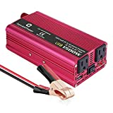 Mesllin 1500w Modified Sine Wave Power Inverter DC 12V to AC 110V Vehicle Car Power Converter Transformer Power Adapter