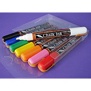 Liquid Chalk - Works like a Marker Looks like Chalk - Set of 8 Classic Primary Colors