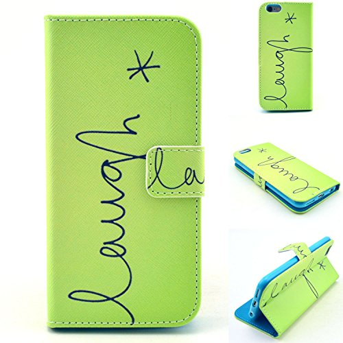 Deego Wallet Case Cover for Apple Iphone 6 - Fruit Green