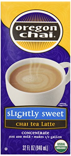 Oregon Chai Chai Tea Latte Concentrate, Slight Sweet, 32 Oz
