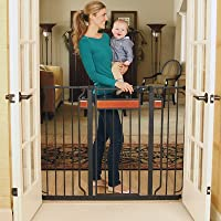 Regalo Home Accents Extra Tall Walk Thru Gate, Hardwood and Steel by Regalo