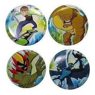 Ben 10 Force Mini Buttons - 4/Pkg