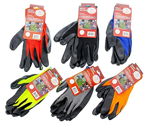 work-gardening-gloves-for-women-men-with-polyester-nitrile-coating-protective-second-skin-assorted-c