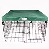 4 x 4 GoGo Pet Products Exercise Pen UV Top / Cover Hunter Green