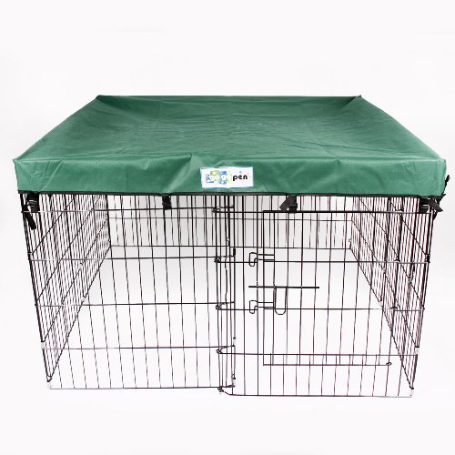 4' x 4' GoGo Exercise Pen UV Top / Cover Hunter Green