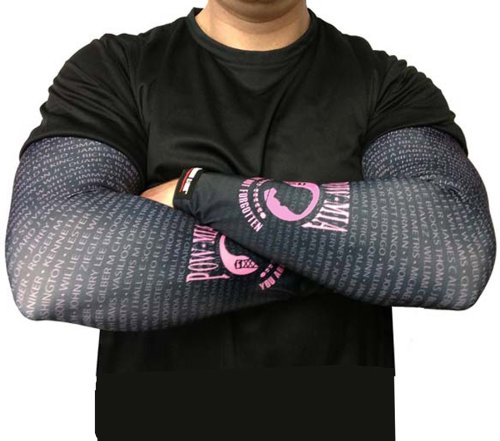 Missing Link SPF 50 POW/MIA ArmPro Compression Sleeve (Pink, Medium)