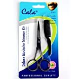 Elixir Beauty Cala Deluxe Mustache Trimmer Kit Scissors & Comb Trimming Kit by Elixir Beauty