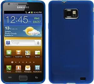 Silikon Hülle Samsung Galaxy S2 - Blau - i9100 PhoneNatic TPU Case Silikon Cover Hülle Schutzhülle + Schutzfolie