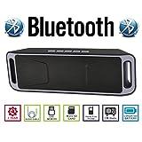 AGM Bluetooth スピーカー ステレオ 2.1CH YOUTUBE視聴可 低音専用ウーハー装備 ( FMラジオ ) ( ハンズフリー テレホン ) ( LINE IN ) ( USBメモリー ) ( MICRO SD ) 安心の基本機能一年メーカー保証 日本語説明書付 SC208 (グレー)