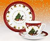 Kaffeeservice Weihnachtszauber 18tlg. für 6 Personen weiß...