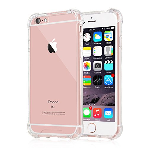 [Crystal Clear] iPhone 6 / 6s Case, iXCC NewCover Case [Shock Absorption] with Transparent Hard Plastic Back Plate and Soft TPU Gel Bumper - Clear (Iphone 6 Clear Cover compare prices)