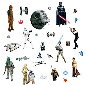 RoomMates RMK1586SCS Star Wars Classic Peel and Stick Wall Decals from York Wallcoverings