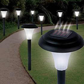 Garden Creations JB5629 Solar-Powered LED Accent Light, Set of 8