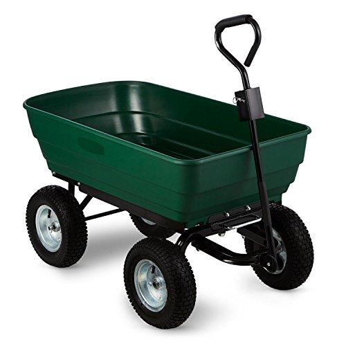 Waldbeck-Green-Elephant-Gartenwagen-Kippwagen-Transportkarre-Bollerwagen-125-l-400-kg-kippbar-grn