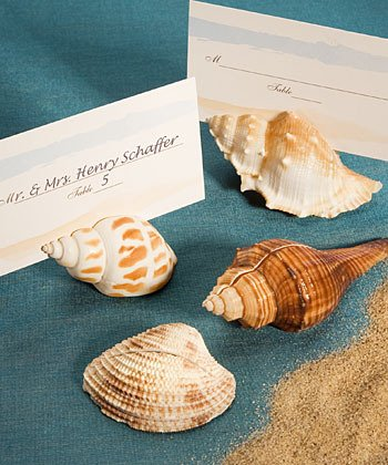 set of 100 Ocean Beach Theme Wedding Place Card Holder Favors