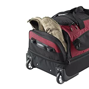 Scarecrow DX 85cm Rolling Luggage/ Wheeled Holdall/ Duffel Bag (red)
