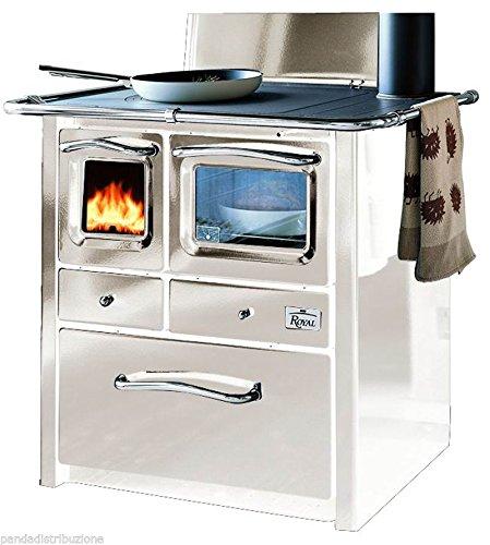 Cucine / Cucina Royal a legna Mod. Gaia colore bianco