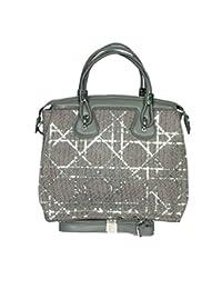 Raeen Plus Glittery-Grey Handbags For Women