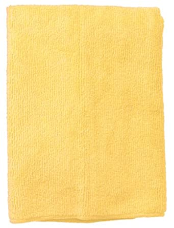 "Wilen E831016, Supremo Microfiber Cloth, 16"" Length x 16"" Width, Yellow, Bulk Pack (Case of 180)"