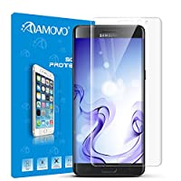AMOVO® Galaxy Note 7 Screen Protector, [Full Coverage] [3D Tempered Glass] Curved Tempered Glass Screen Protector for Samsung Galaxy Note 7 [9H Hardness] [Anti-Scratch] [Ultimate Clarity] (Clear) from AMOVO