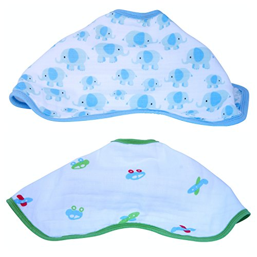 2 Triple Layers Super Soft Muslin Baby Burp Bibs For Burping. Baby Bibs And Burp Cloths For Boys & Girls. (Dundee Burp Cloth compare prices)
