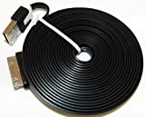 myLife Grunge Black + White {Flat Tangle-Free Noodle Design} 6' Feet (1.8 Meter) Quick Charge Cable and USB Data Sync Cord for iPhone, iPod and iPad Models SEE COMPATIBILITY (Durable Rubber Coat)