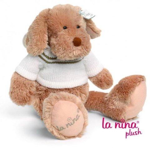 La Nina Plush - Peluche Chien marron et blanc - 25 cm MM