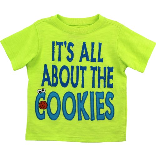 Cookie Monster Toddler Lime T-Shirt SMA34450