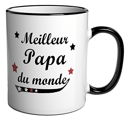 tasse caf cadeau message meilleur papa du monde. Black Bedroom Furniture Sets. Home Design Ideas