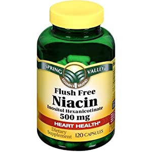 Spring Valley Dietary health supplement Flush free of cost Niacin 120 CT