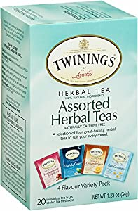 TWININGS Assorted Tea, Herbal, 20-Count (Pack of 6)