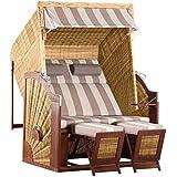 DeVries Strandkorb Trendy Pure Classic XL Sun PE griseum 422