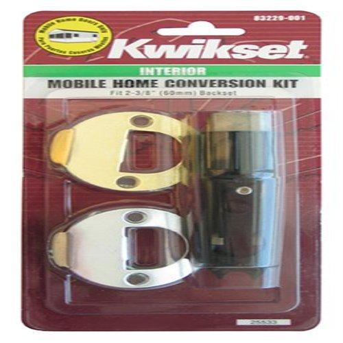 12003 Cp Pl 7/8Rf 3/26 Cnv Kit Polished Brass/Satin Chrome Mobile Home Interior Hall/Closet Conversion Kitkwikset Conversion Kit -Yow front-968528