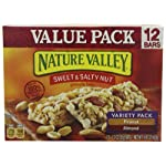 Nature Valley Sweet & Salty Nut Granola Bars, Variety Pack of Peanut and Almond, 12-Count Boxes (Pack of 8)