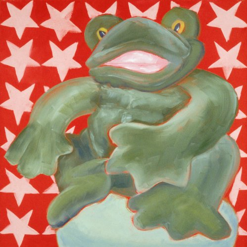 "Fred the Frog - 18"" X 18"" Canvas Wall Art"